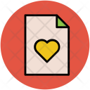 Heart File Documents Icon