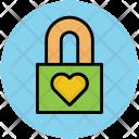 Heart Lock Design Icon
