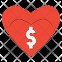 Heart Shopping Dollar Icon