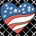 Heart Passion Patriotism Icon