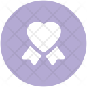 Heart Seal Ribbon Icon