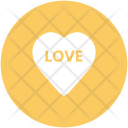 Heart Word Love Icon