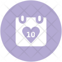 Heart Calendar Wedding Icon