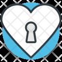 Heart Key Slot Icon