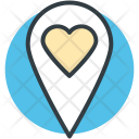 Heart Map Pin Icon