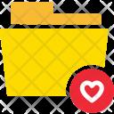 Heart Favourite Folder Icon