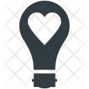 Heart In Bulb Icon
