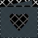 Heart Valentine Card Icon