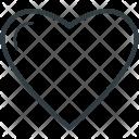 Heart Shape Likes Icon