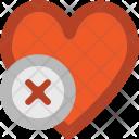 Heart Sign Delete Icon