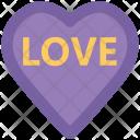 Heart Word Love Icon
