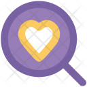 Heart Magnifier Dating Icon