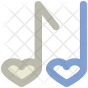 Heart Musical Note Icon