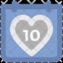 Heart Calendar Wedding Icon