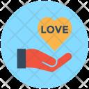 Heart Care Hand Icon