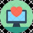 Heart Online Love Icon