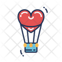Heart Air Balloon Air Ballon Romentic Icon