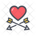 Heart And Arrow Valentine Romantic Icon