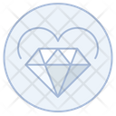 Heart And Diamond Heart And Icon