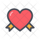 Heart And Ribbon Love Ribbon Heart Ribbon Icon