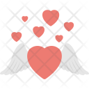 Heart Feather Devil Icon