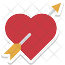 Heart Arrow Love Archery Icon