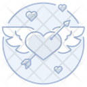 Heart Arrow Winged Heart Arrow Winged Icon