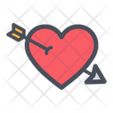 Heart Arrow Valentines Day Arrow Icon