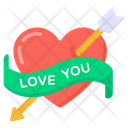 Heart Arrow Injured Heart Broken Heart Icon