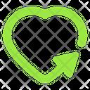Heart Arrow Arrow Navigation Arrow Icon