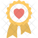 Award Badge Heart Icon