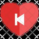 Heart Backward Track Icon