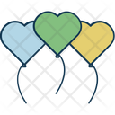 Heart Balloon Balloon Party Balloons Icon