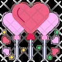 Balloons Party Heart Balloon Icon