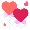 Balloons Heart Love And Romance Icon