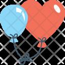 Heart Balloon Party Icon