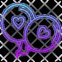 Heart Balloons Love Icon