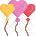 Heart Balloons In Love February Icon