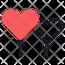 Balloon Heart Party Icon