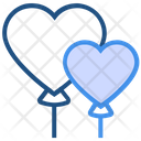Heart Valentines Day Balloons Icon