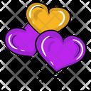 Heart Balloons Love Balloons Wedding Celebration Icon