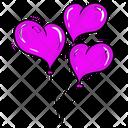 Heart Balloon Balloons Decorative Balloons Icon