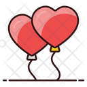 Heart Balloons Balloons Party Balloons Icon