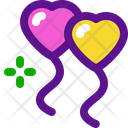 Heart Baloons Icon