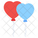 Heart Balloons Party Balloons Valentine Balloons Icon