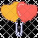 Balloons Party Balloons Heart Balloons Icon