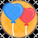 Balloons Heart Balloons Decorative Balloons Icon