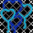 Heart Balloons Icon
