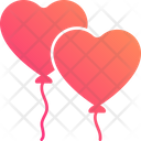 Heart Balloons Party Decoration Valentine Balloons Icon