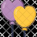 Heart Balloons Ballons Heart Icon